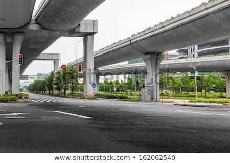 Low angle perspective view of a motorway road bridge  Stock photo © lunamarina