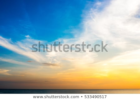 blue sky with golden sunset light  stock photo © lunamarina