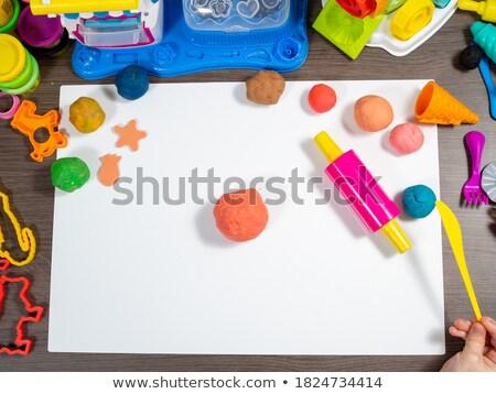 Criança trabalhando secretária jovem vertical Foto stock © gewoldi