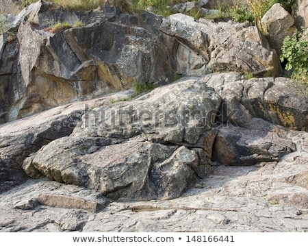 rock formation near Mont Saint Michel Abbey Stock photo © prill