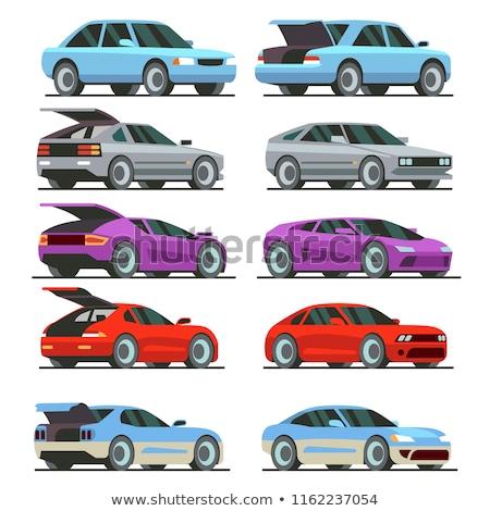 púrpura · coche · sedán · carretera · modelo · velocidad - foto stock © leonido