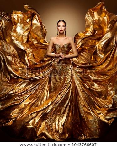 belo · moda · modelo · noite · vestido · elegante - foto stock © fantasticrabbit