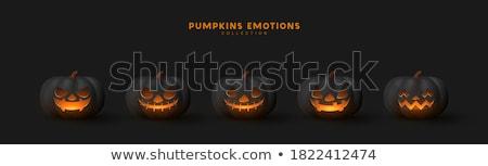 Halloween tökök tűz 3d render három sütőtök Stock fotó © Elenarts