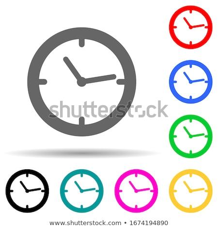 Icon of Clock Face on Blue Arrow. Stock photo © tashatuvango