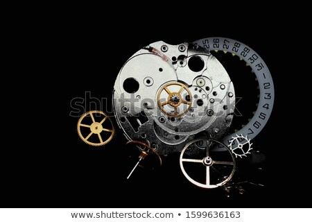 time to start in silver grey gears Stock photo © marinini