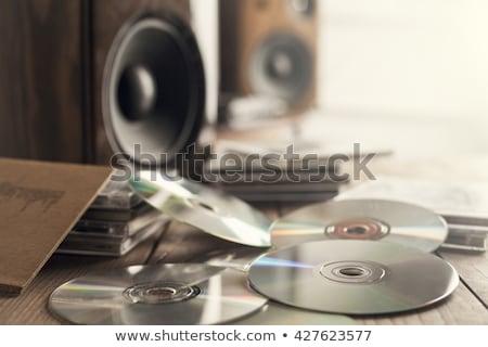 Płyta cd dysku technologii niebieski oprogramowania cyfrowe Zdjęcia stock © mycola