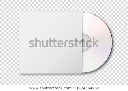 Stock fotó: üres · cd · adat · lemez · izolált · fehér