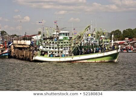 fisherboats in the harbor in Koh Samet, Thailand Stock photo © meinzahn