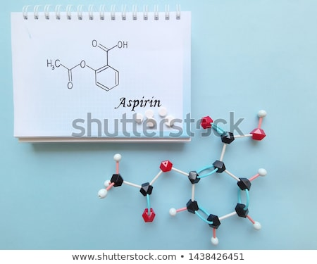 Tablet with the chemical formula of acetylsalicylic acid Stock photo © Zerbor
