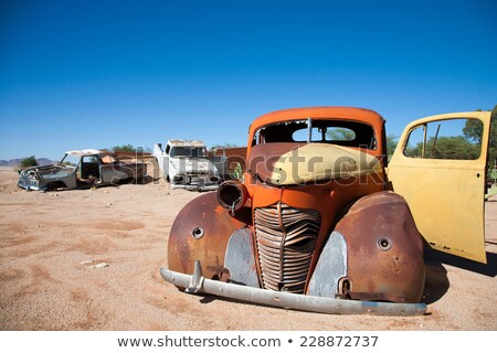 klasik · araba · Namibya · kaza · kasaba - stok fotoğraf © imagex