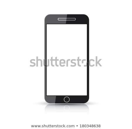 Flat and simplistic black creative smart phone vector Stock photo © MPFphotography