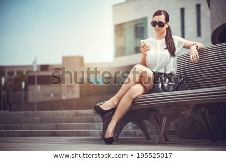 Nők divat lezser fiatal barna hajú stock Stock fotó © dgilder