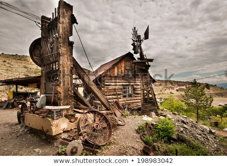 jerome arizona ghost town windmill stock photo © weltreisendertj