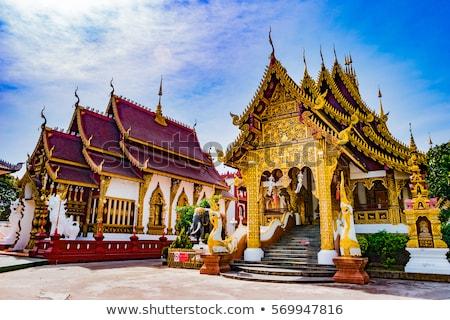 White pagoda architecture of northern Thailand. Stock photo © Yongkiet