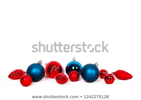 christmas · bal · pad · decoratie · geïsoleerd · witte - stockfoto © ssuaphoto
