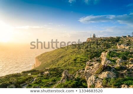 Stock fotó: Radar · állomás · Málta · Európa · égbolt · építkezés