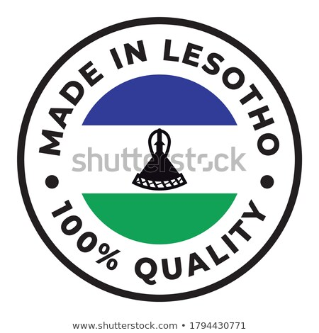 Made in Lesotho on Rubber Stamp. Stock photo © tashatuvango
