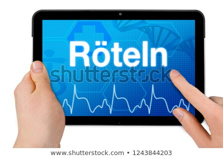rubella on the display of medical tablet stock photo © tashatuvango
