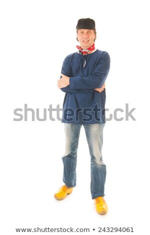 Farmer isolated over whsite background Stock photo © ivonnewierink