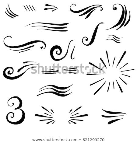 Set of decorative elements, vector brushes, borders, patterns  Stock photo © elenapro