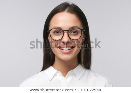 Сток-фото: улыбаясь · умный · секретарь · молодые