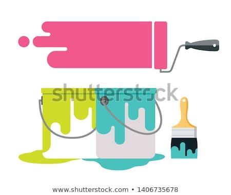 Brush And Bucket Stok fotoğraf © Sarunyu_foto