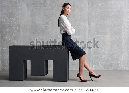 Bem sucedido asiático mulher mulher de negócios menina Foto stock © tangducminh