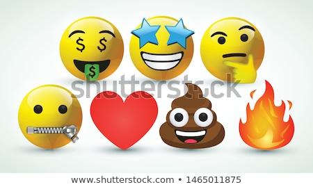 Karikatür star karakter düşünce balonu el dizayn Stok fotoğraf © lineartestpilot