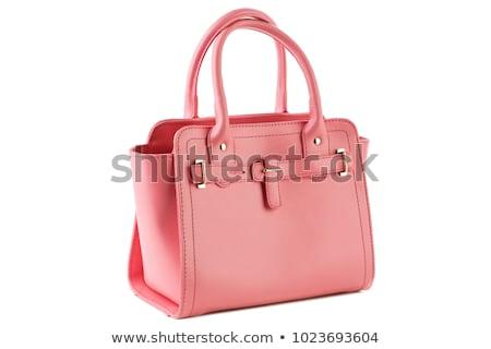 розовый женщины сумку изолированный белый текстуры Сток-фото © tetkoren
