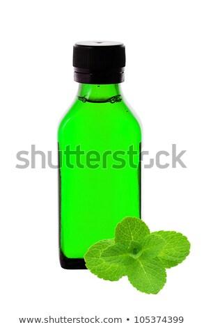colher · de · chá · chá · verde · completo · fundo · verde - foto stock © tetkoren