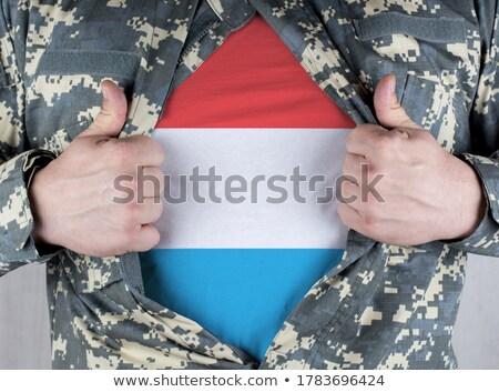 Luksemburg banderą shirt człowiek biznesu człowiek Zdjęcia stock © fuzzbones0