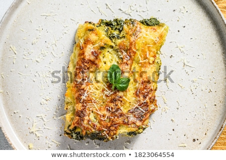 Töltött tészta fém ebéd senki közelkép Stock fotó © Digifoodstock