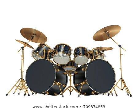 Silver drum isolated on white Stock photo © shutswis