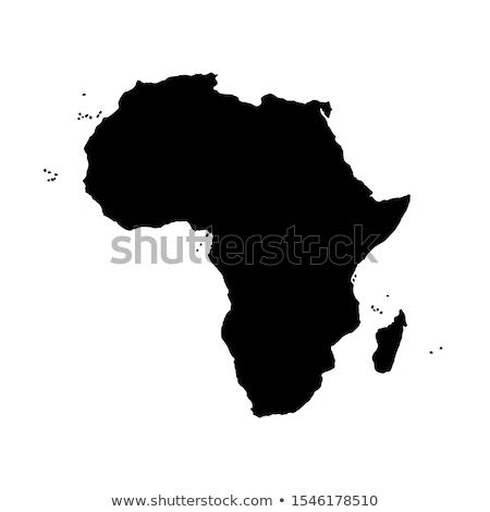 ニジェール 国 地図 市 黄色 土地 ストックフォト © alex_grichenko