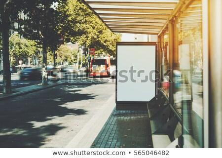 autópálya · óriásplakát · égbolt · fű · út · utca - stock fotó © stevanovicigor