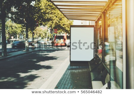 blank billboard hoarding by the roadway stock photo © stevanovicigor