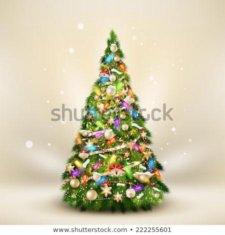 Christmas elegante beige eps 10 Stockfoto © beholdereye