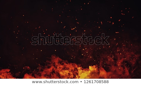 chamejante · fronteira · fogo · preto · fundo · quadro - foto stock © zven0