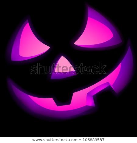 Jack O Lantern pumpkin illuminated green. EPS 8 Stock photo © beholdereye