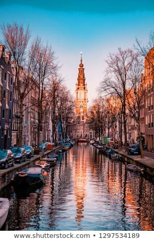Güney kilise Amsterdam su ev şehir Stok fotoğraf © vichie81