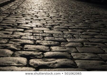 pattern of wet cobble stones Stock photo © meinzahn