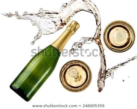シャンパン · ボトル · 首 · クローズアップ · 孤立した · 白 - ストックフォト © rtimages