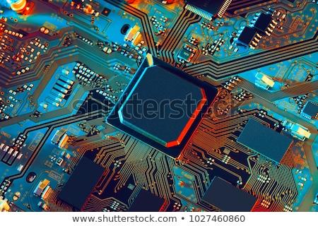 emlék · chip · nyáklap · részlet · izolált · fehér - stock fotó © homydesign