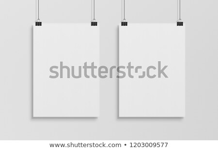 two white posters mockup stock photo © anna_leni