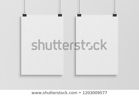 Two White Posters Mockup Stock photo © Anna_leni