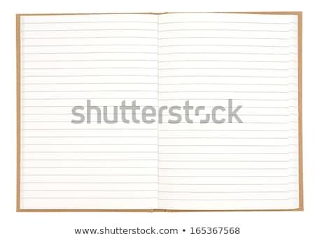 Nyitva füzet közelkép fából készült papír könyv Stock fotó © OleksandrO