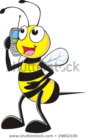 手 携帯電話 蜂 マクロ 電話 ホールド ストックフォト © compuinfoto