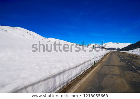 Road and mountain peaks in Spain (Pyreness) Stock photo © digoarpi