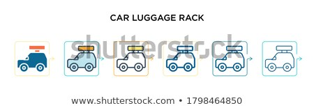Luggages in six colors Stock photo © bluering