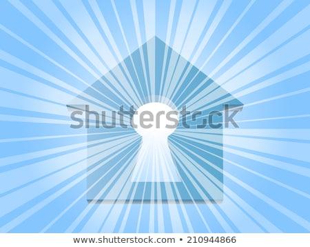 Blue luminous rays. EPS 10 Stock photo © beholdereye